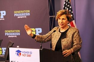 Weingarten at Higher Ed, Not Debt launch