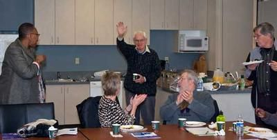 Birthday recognition for Will Parry of Puget Sound Alliance for Retired Americans