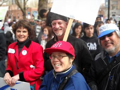AFT Members at Rally